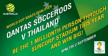 Socceroos vs Thailand at Suncorp Stadium 50% off